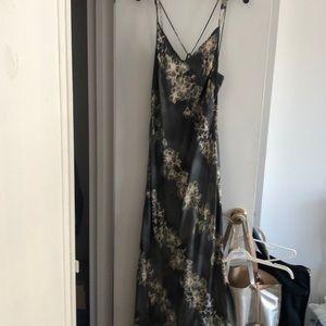 Free people floral silky slip dress